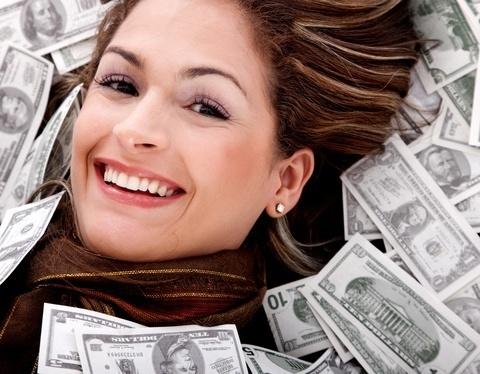 woman w money